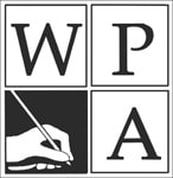Square logo for Council of Writing Program Administrators depicting hand with writing instrument in lower-left corner surrounding by the letters W, P, and A arranged from upper-left to lower right corner.